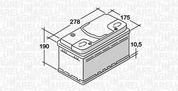 MAGNETI MARELLI 068074068010 Стартерная аккумуляторная батарея