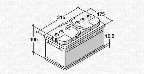 MAGNETI MARELLI 068080060010 Стартерная аккумуляторная батарея; Стартерная аккумуляторная батарея