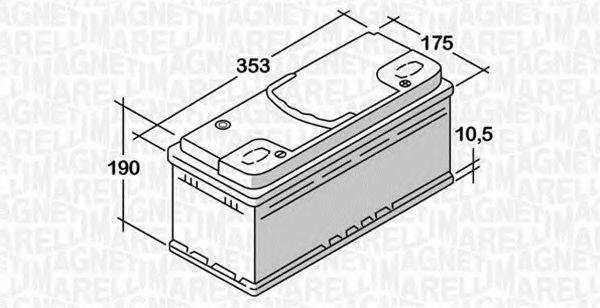 MAGNETI MARELLI 068092076010 Стартерная аккумуляторная батарея