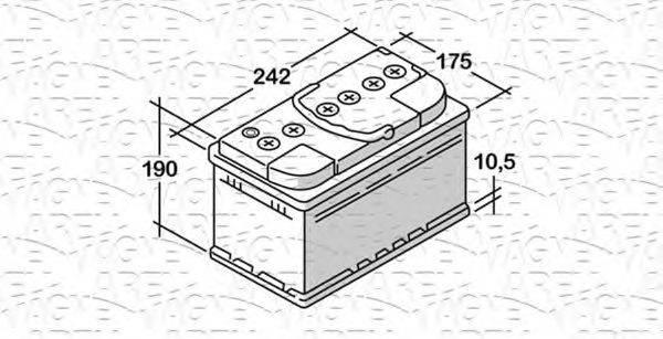 MAGNETI MARELLI 068062064010 Стартерная аккумуляторная батарея; Стартерная аккумуляторная батарея
