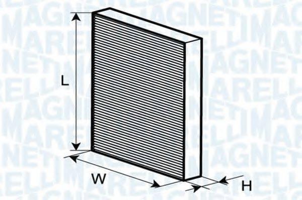MAGNETI MARELLI 350203061230 Фильтр, воздух во внутренном пространстве