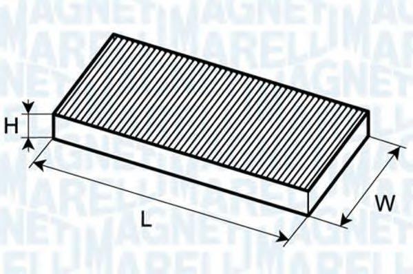 MAGNETI MARELLI 350203061240 Фильтр, воздух во внутренном пространстве