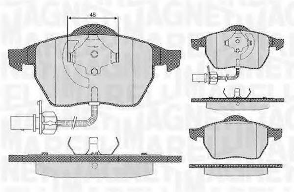 MAGNETI MARELLI 363916060143 Комплект тормозных колодок, дисковый тормоз