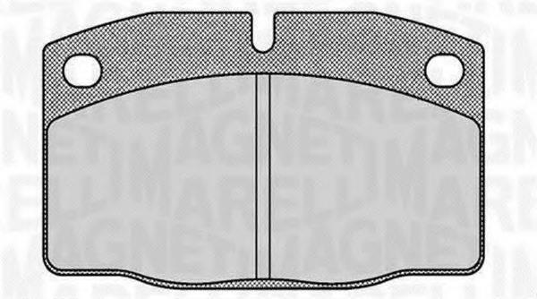MAGNETI MARELLI 363916060354 Комплект тормозных колодок, дисковый тормоз