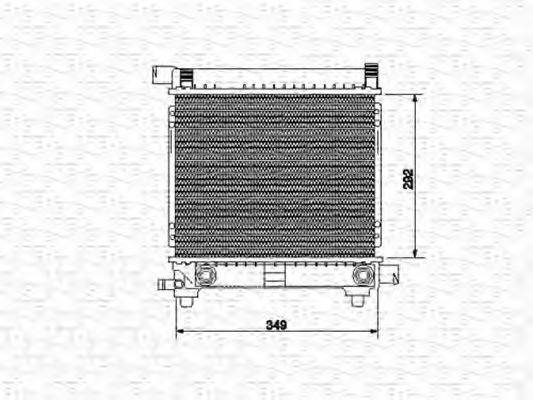 MAGNETI MARELLI 350213534000 Радиатор, охлаждение двигателя