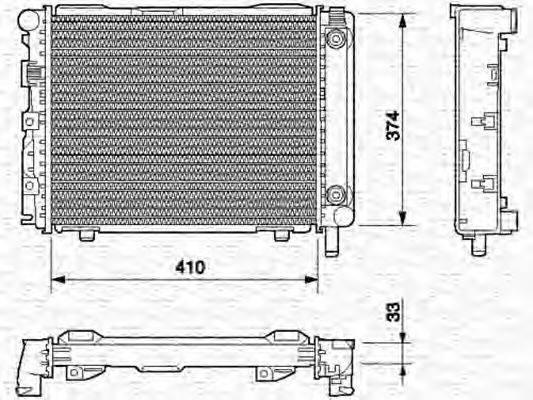 MAGNETI MARELLI 350213537000 Радиатор, охлаждение двигателя