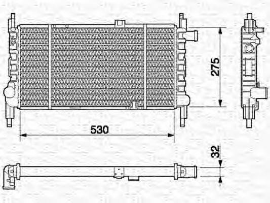 MAGNETI MARELLI 350213589000 Радиатор, охлаждение двигателя
