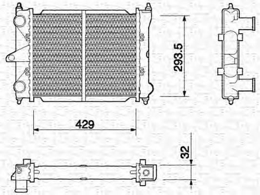 MAGNETI MARELLI 350213650000 Радиатор, охлаждение двигателя