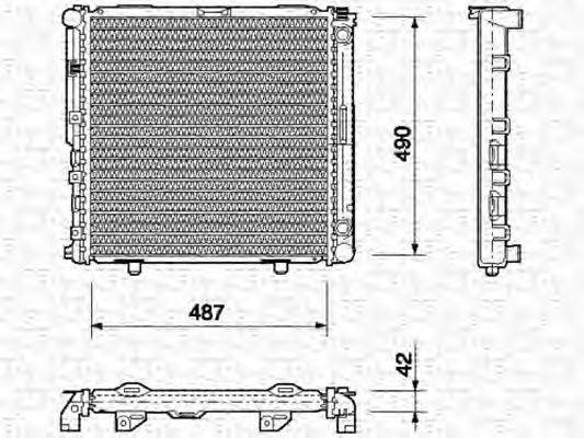 MAGNETI MARELLI 350213690000 Радиатор, охлаждение двигателя